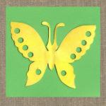 Бумажная бабочка.