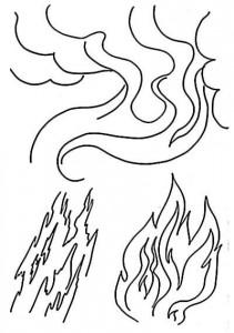дым пламя