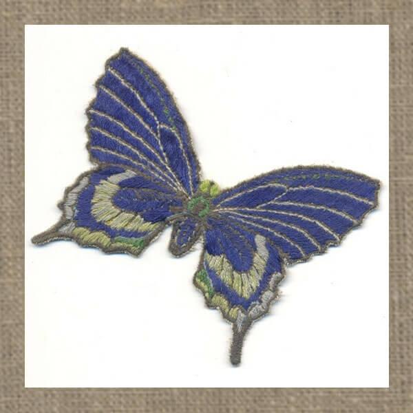 вышивка бабочка махаон