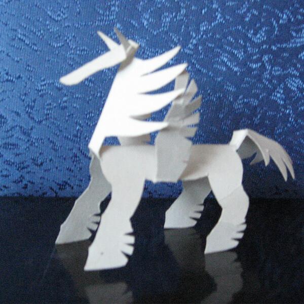 пегас лошадка бумажная