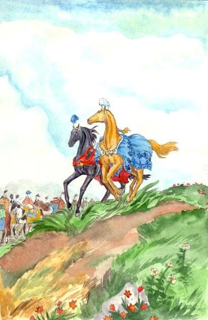 кони рисунок