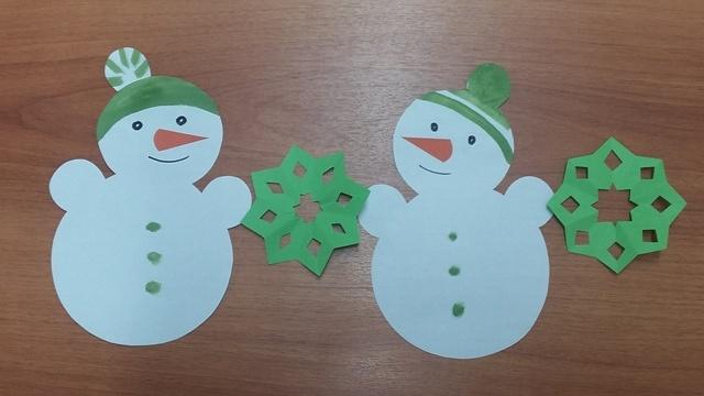 Снеговички бумажные