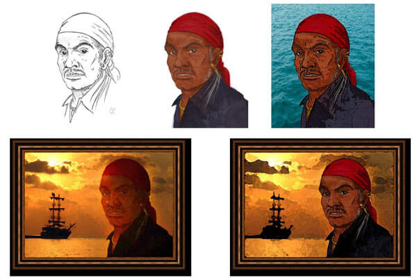 пират портрет